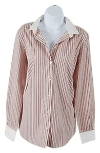 Céline Celine Long Sleeve Button Down Shirt Multi Stripe