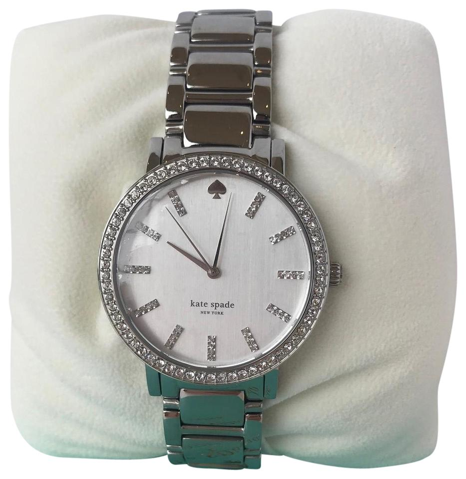 Kate Spade Silver Gramercy Grand Bracelet Watch 70 Off Retail