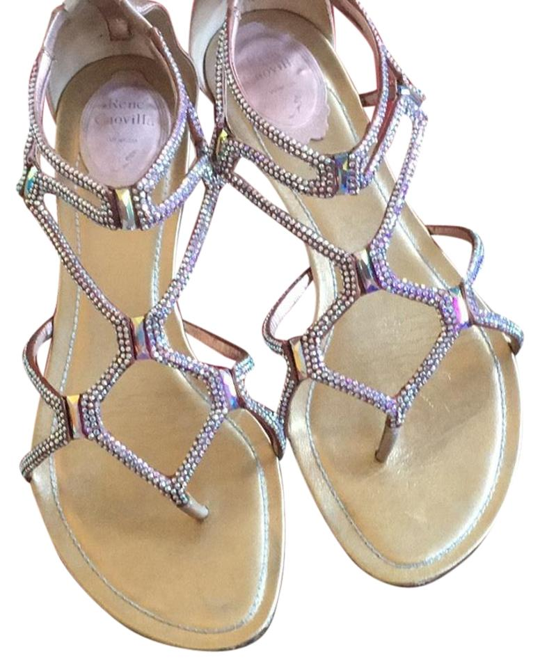 0ed845a81285 Rene Caovilla Pinkish Iridescent Flat Sandals. Size  US 8.5 Regular (M ...