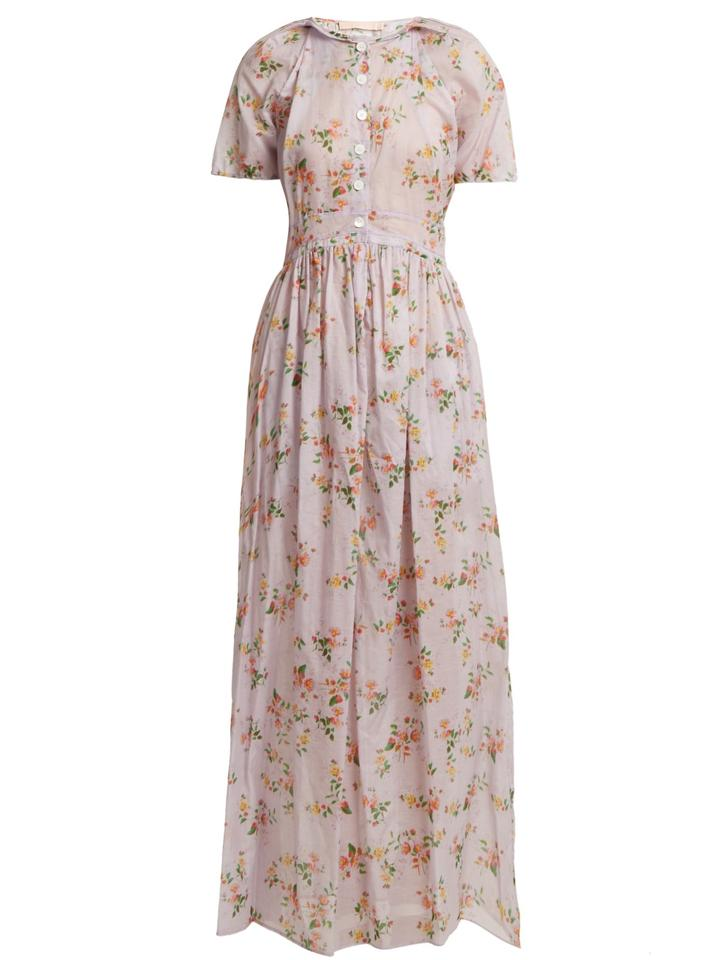 2e34c1c7f1b Brock Collection Floral Print Spring Summer 2018 Long Casual Maxi ...