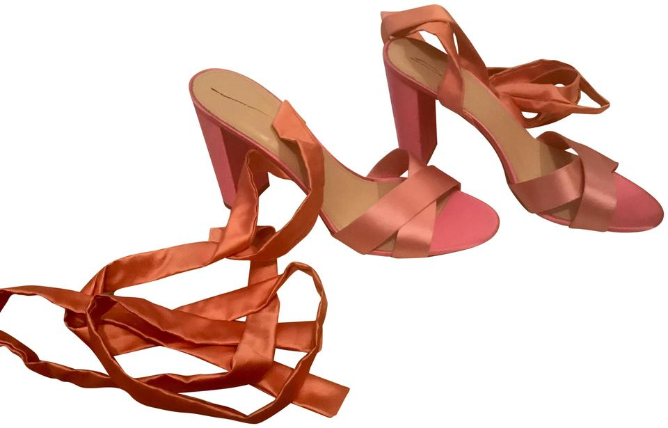 J.Crew with Pink Satin Colorblock Sandals with J.Crew Ankle 9m G4494 Pumps 7d0f67