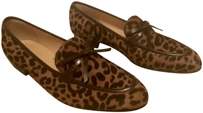 Item - Multicolor Academy Loafers In Leopard Calf Hair 5m G8985 Flats Size US 8.5 Regular (M, B)