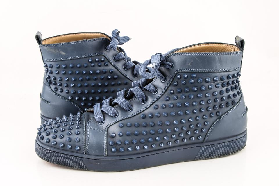cca876e330d Christian Louboutin   Dark Blue Louis Spikes Flat Sneakers-dark Shoes Image  0 ...