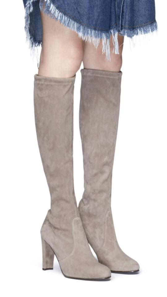 17d2ba549ab Stuart Weitzman Taupe Kneeland Oots-topo Suede Boots Booties Size US ...