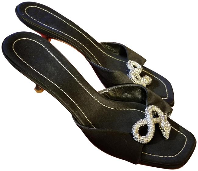 Item - Black Ciabatta Diamond Snake Mules/Slides Size EU 39 (Approx. US 9) Regular (M, B)