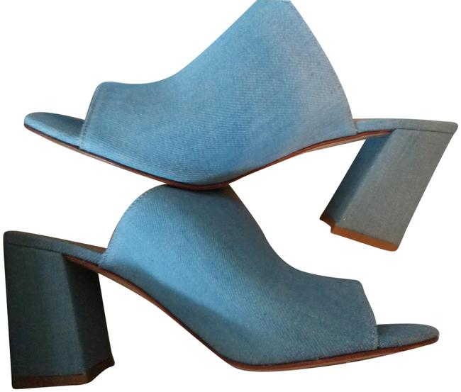 Item - Blue Denim Mules/Slides Size EU 38 (Approx. US 8) Regular (M, B)