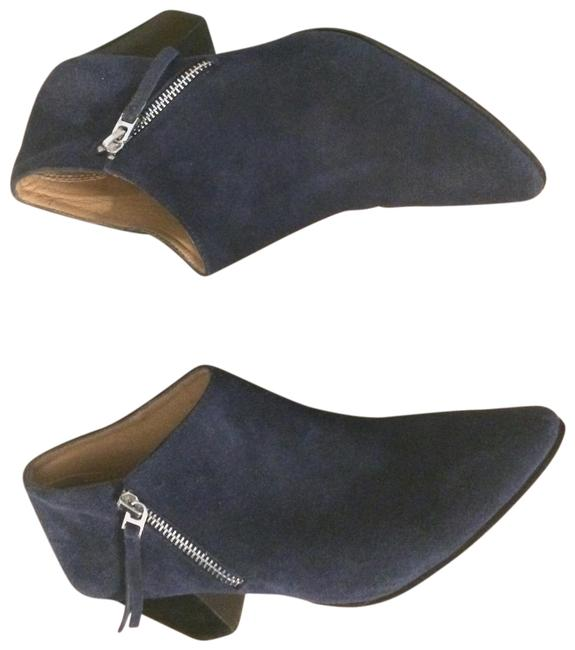 Item - Blue Suede Chunky Boots/Booties Size US 7 Regular (M, B)