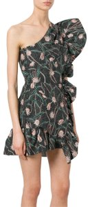 Isabel Marant Floral Summer One Shoulder Ruffle Party Dress