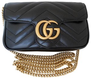 8e08689d2604 Added to Shopping Bag. Gucci Box Dust Cover Marmont Cross Body Bag. Gucci  Marmont Clutch Micro Mini Matelasse Shoulder Black Lambskin Leather ...