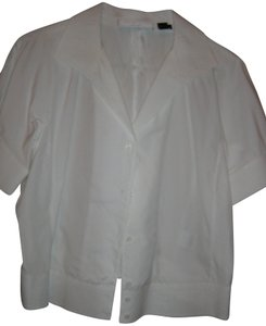 Charles Nolan Embroidered Top White