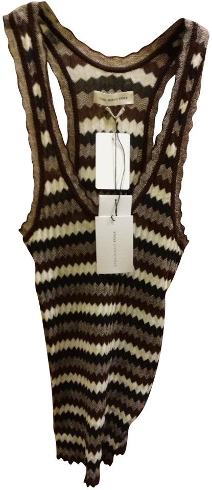 3cd2b5c0ee60b5 Étoile Isabel Marant Multiple 38 Striped Fine Knit Tank Top Cami ...