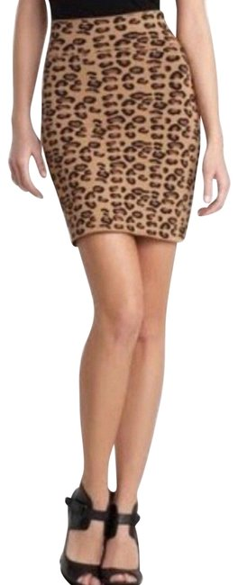 Item - Multi Color Bcbg Max Azria Leopard Print Bodycon Animal Cheetah Skirt Size 6 (S, 28)