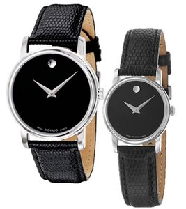 Movado Stainless Steal Black Museum Dial 26mm Womens 2100004 Swiss Made Watch