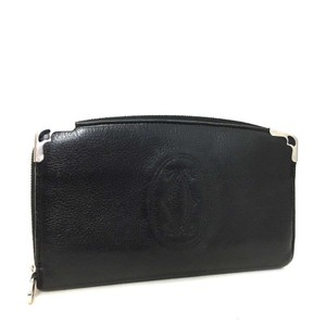 Cartier Cartier Marcello Black Leather Zip Around Long Wallet
