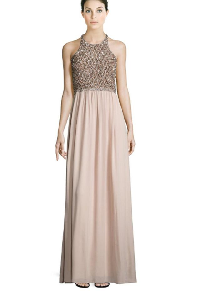 Parker Pink Black Cassey Embellished Open Back Evening Gown Long ...