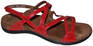 Dansko Red patent Leather Sandals