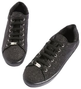 Topshop New Black Glitter Athletic