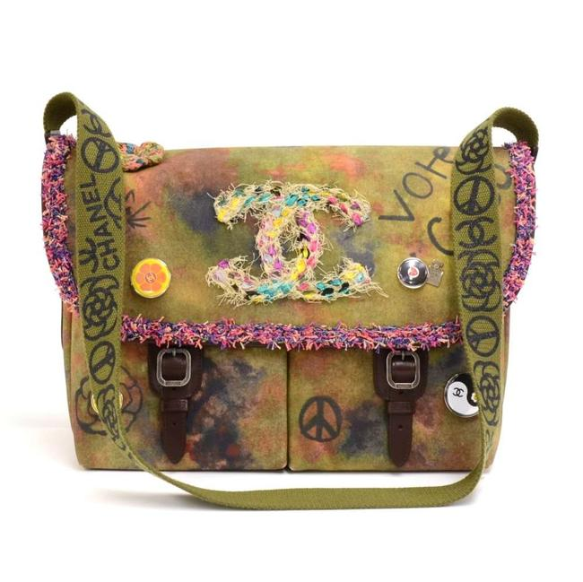 Item - Graffiti One The Pavement Bag-limited Edition Khaki Canvas Messenger Bag