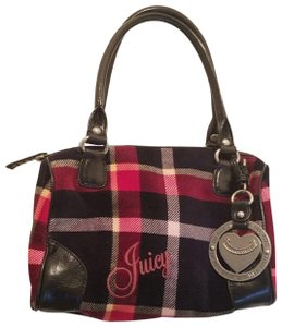 Juicy Couture Satchel in Red Plaid