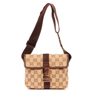 Gucci Gg Monogram Canvas Vintage Brown Travel Bag