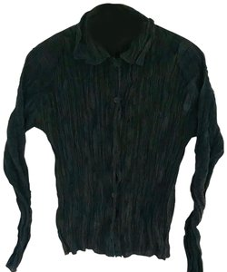 Issey Miyake Button Down Shirt Black, Navy