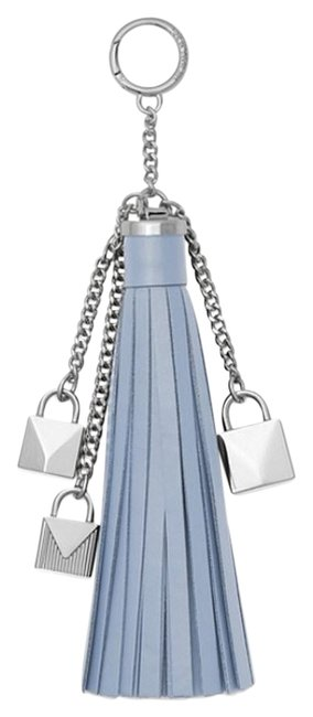 Item - Pale Blue Mercer Tassel and Lock Leather Bag Charm Pretty