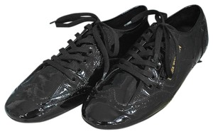 Louis Vuitton Patent Leather Lyric Sneakers Black Athletic