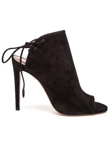 Aquazzura Suede Pump Black Sandals