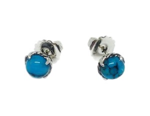David Yurman Chatelaine Earrings with Turquoise 10mm $395 NWOT