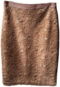 Club Monaco Lace Pencil Summer Skirt Nude