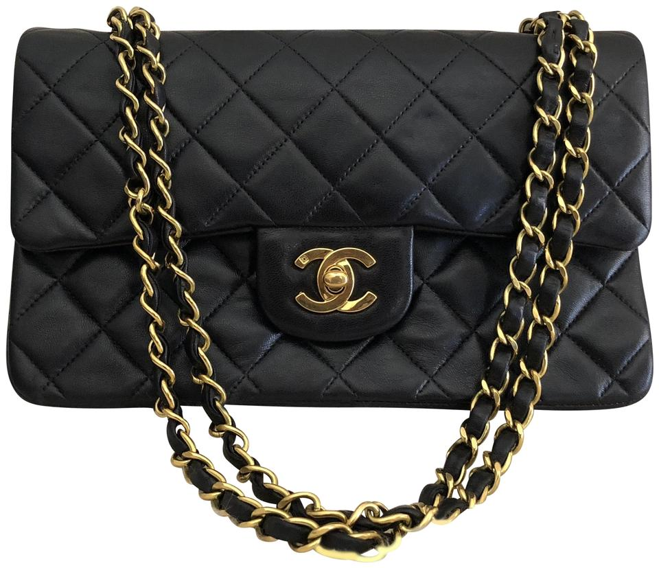 b0ca754d04 Chanel Double Flap W Classic Vintage Quilted 1994 Small 9