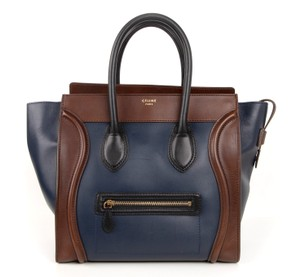 Céline Phantom Phantom Phantom Tote in Navy, Brown and Black