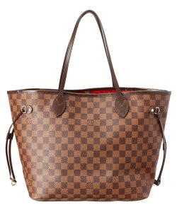 Louis Vuitton Lv Neverfull Damier Tote in brown