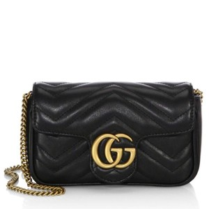 85ca956dc Added to Shopping Bag. Gucci Cross Body Bag. Gucci Marmont Super Mini Black  Leather ...