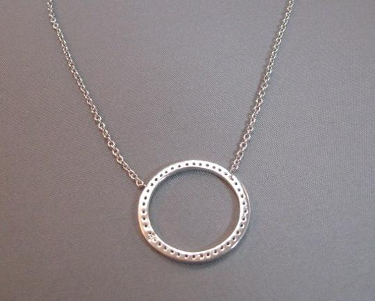 Other Sterling Silver and CZ round circle necklace