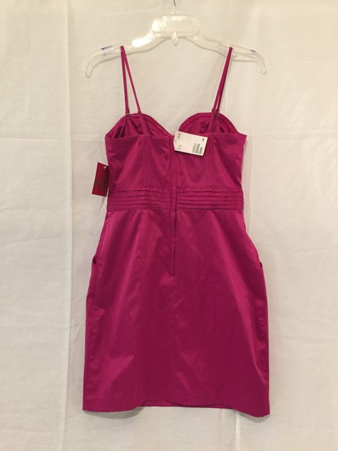 H&M Nwt New Cocktail Hot Pink With Pockets Pockets Sweetheart Sweetheart Neckline Dress