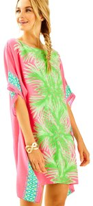 Lilly Pulitzer short dress Tiki Pink Palm on Tradesy