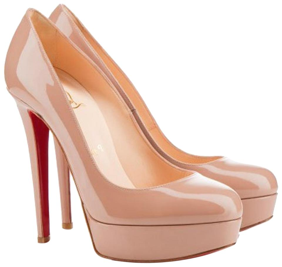 2e24605e2db8 Christian Louboutin Beige Nude Bianca 140 Patent Leather Platform Pumps