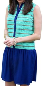 Daniel Cremieux short dress Green, Blue, White, Orange on Tradesy