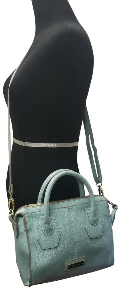 46eaa5939e Steve Madden Leather Tote Pebbled Satchel in Light Pastel Blue Image 0 ...