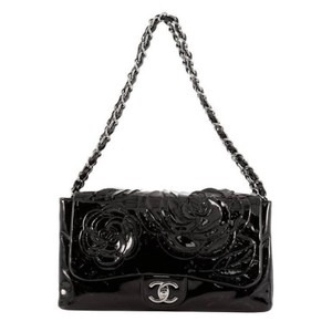 Chanel Flap Patent Tweed Shoulder Bag