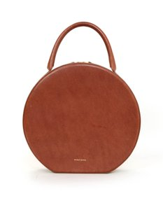 Mansur Gavriel Top Handle Circle Tote in rust