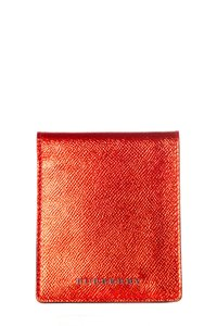 Burberry Red Metallic Leather Wallet