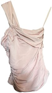 L.A.M.B. One Shoulder Structured Stretchy Top dusty pink