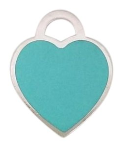 Tiffany & Co. Tiffany & Co Silver Blue Enamel Return To MEDIUM Heart Charm Pendant