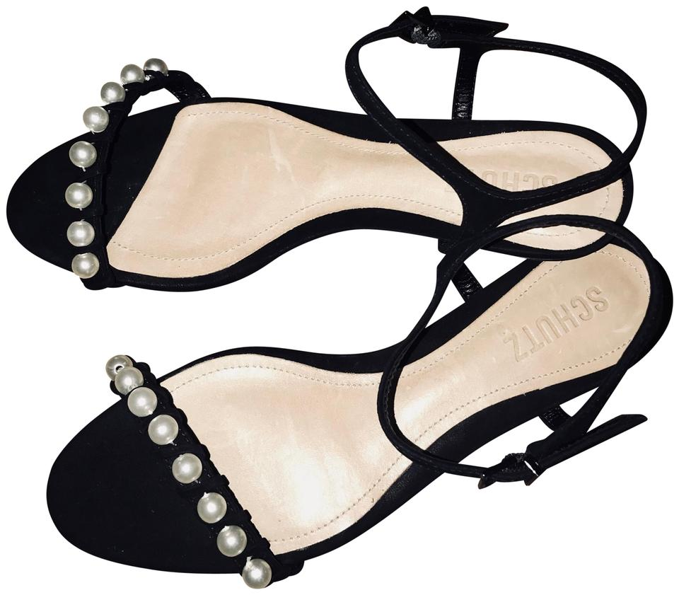 87fe0223fb3 SCHUTZ Leather Open Toe Pearl Ankle Strap Suede Pale Peach Flats Image 0 ...