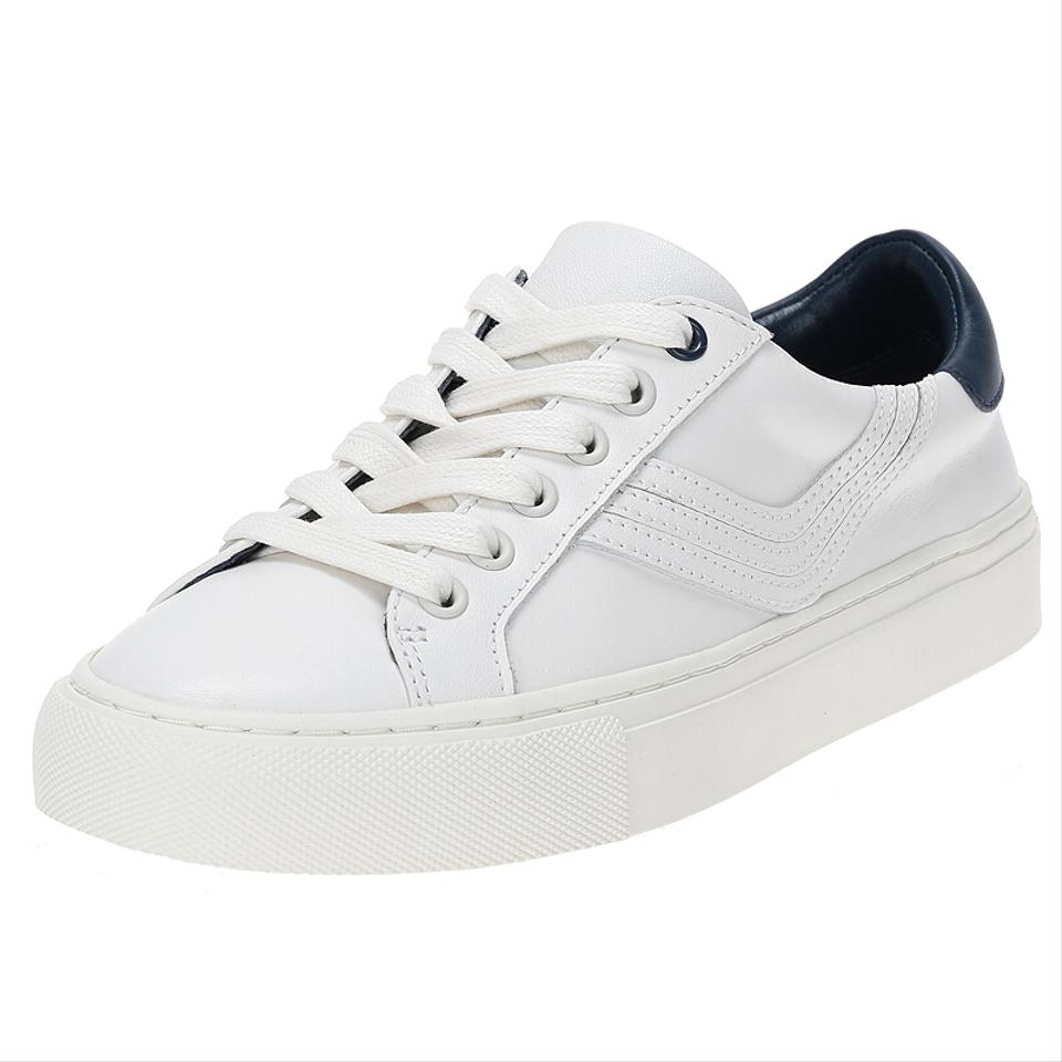 c642a6664b2d9 Tory Sport by Tory Burch White New Retro Chevron Leather Sneakers Flats  Sneakers