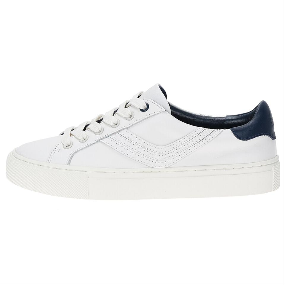 957e385c1bb1 Tory Sport by Tory Burch White New Retro Chevron Leather Sneakers Flats Sneakers  Size US 8.5 Regular (M