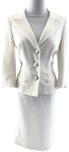 MILLY Tweed Cotton Blend Skirt Suit