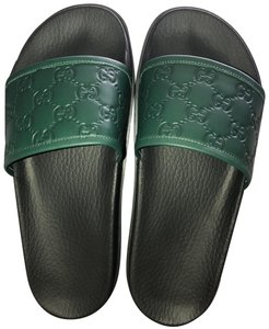 Gucci Forest Green w/Black Sole Sandals